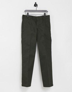 Зеленые узкие брюки прямого кроя 873-Зеленый цвет Dickies