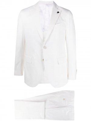 Однобортный пиджак Gabriele Pasini. Цвет: белый
