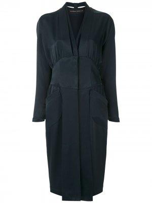 Приталенное платье Gloria Coelho. Цвет: синий