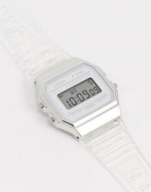 Цифровые часы с прозрачным ремешком F-91WS-7EF-Очистить Casio