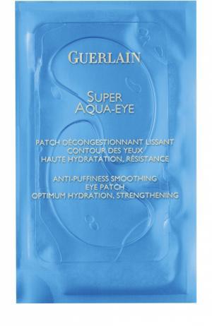 Разглаживающие патчи для кожи вокруг глаз Super Aqua-Eye Guerlain. Цвет: бесцветный