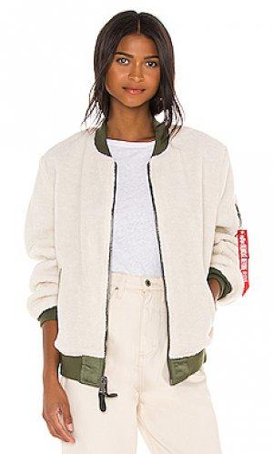 Куртка бомбер l-2b ALPHA INDUSTRIES. Цвет: белый