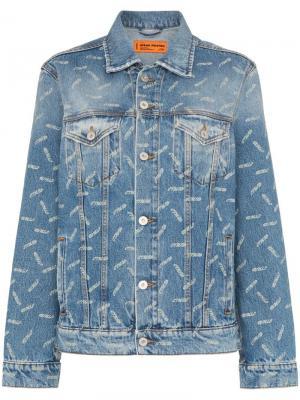 Джинсовая куртка с принтом CTNMB Heron Preston