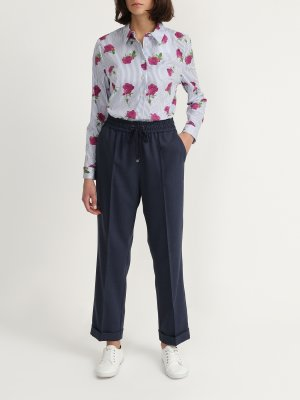 Прямые брюки Finisterre. Цвет: siniy