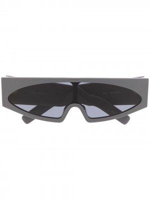 Солнцезащитные очки-маска Rick Owens. Цвет: серый