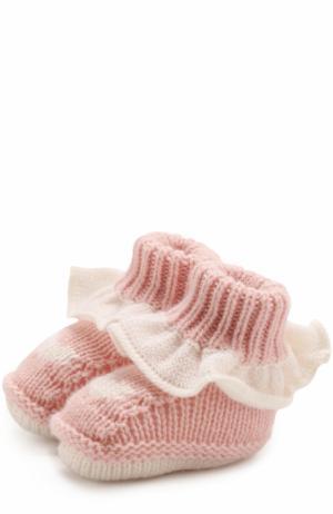 Кашемировые носки с оборкой Baby T. Цвет: розовый