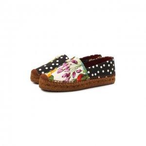 Текстильные эспадрильи Dolce & Gabbana. Цвет: разноцветный