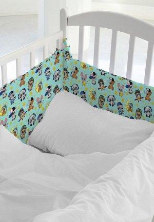 Бортик для детской кровати Juno Малыши мальчики. Цвет: бирюзовый