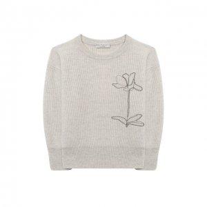 Кашемировый пуловер Brunello Cucinelli. Цвет: бежевый