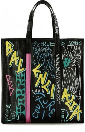 Сумка Bazar Shopper M Balenciaga. Цвет: черный