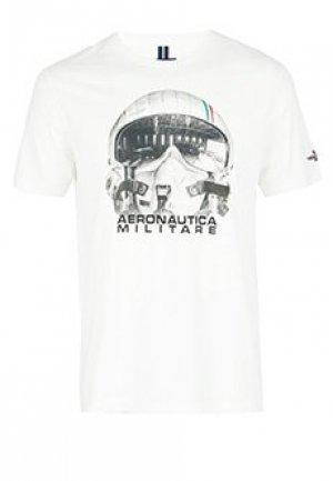 Футболка AERONAUTICA MILITARE. Цвет: белый
