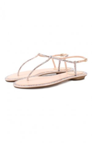 Кожаные сандалии Diana Rene Caovilla. Цвет: розовый