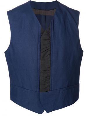 Waistcoat with grey details Haider Ackermann. Цвет: синий