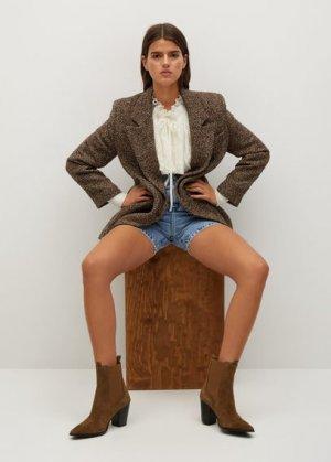 Кожаные ботинки на каблуке - Lana Mango. Цвет: табачно-коричневый