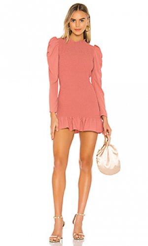 Мини платье rhianon Amanda Uprichard. Цвет: розовый