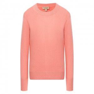 Кашемировый пуловер Burberry. Цвет: розовый
