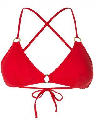 Sardegna triangle bikini top Melissa Odabash. Цвет: красный