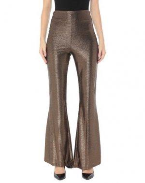 Повседневные брюки FOREVER UNIQUE. Цвет: бронзовый