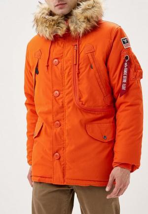 Куртка утепленная Alpha Industries Polar Jacket. Цвет: оранжевый