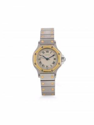 Наручные часы Santos Ronde pre-owned 24 мм 1990-х годов Cartier. Цвет: белый
