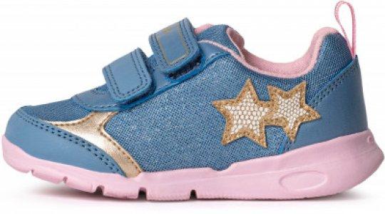 Кроссовки для девочек Runner, размер 26 Geox. Цвет: голубой