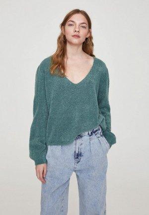 Пуловер Pull&Bear. Цвет: зеленый