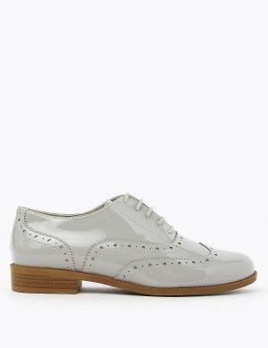 Туфли-броги на шнурках M&S Collection. Цвет: серый