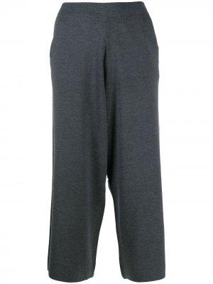 Укороченные брюки свободного кроя Allude. Цвет: серый