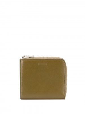 Квадратный кошелек Jil Sander. Цвет: зеленый