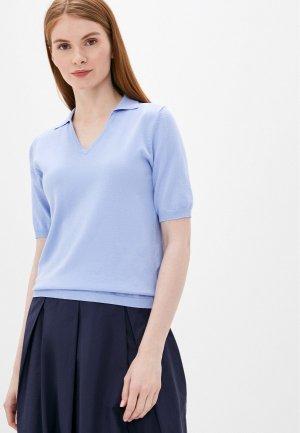 Пуловер Снежная Королева. Цвет: голубой