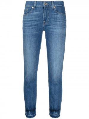 Прямые джинсы средней посадки 7 For All Mankind. Цвет: синий