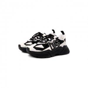 Комбинированные кроссовки Daymaster Dolce & Gabbana. Цвет: чёрно-белый