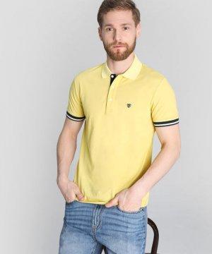 Поло из пике O`Stin. Цвет: светло-желтый