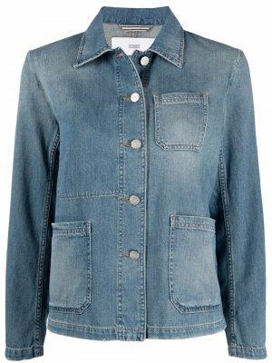 Джинсовая куртка с эффектом потертости Closed. Цвет: синий