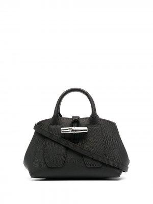 Маленькая сумка-тоут Roseau Longchamp. Цвет: черный