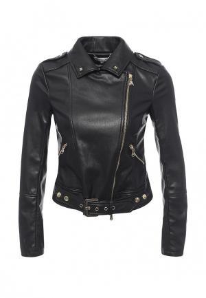 Куртка кожаная Patrizia Pepe PA748EWPAF19. Цвет: черный