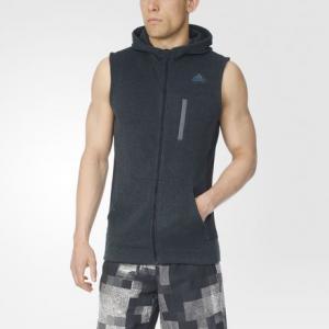Флисовый жилет для бега Ultra Energy Adidas Performance. Цвет: black / dgh solid grey