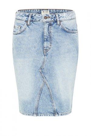 Юбка джинсовая Mustang. Цвет: синий