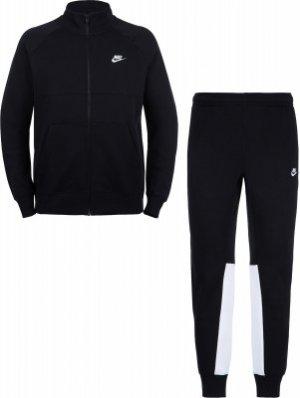 Костюм мужской Sportswear, размер 54-56 Nike. Цвет: черный