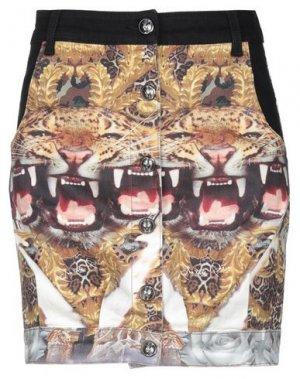 Джинсовая юбка PHILIPP PLEIN. Цвет: черный