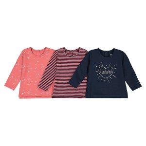 Комплект из 3 футболок LaRedoute. Цвет: разноцветный