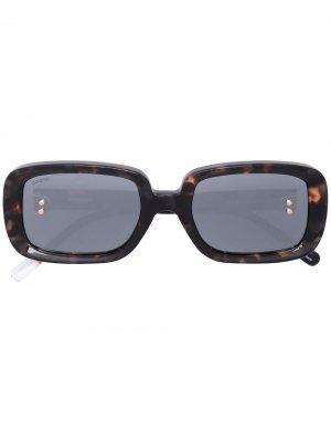 Солнцезащитные очки в прямоугольной оправе Doublet. Цвет: коричневый