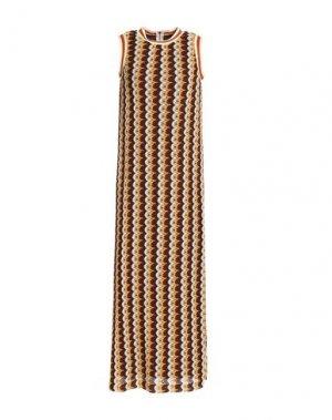 Длинное платье ANNA SUI. Цвет: красно-коричневый