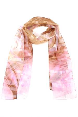 Шарф F.FRANTELLI. Цвет: розовый, фиолетовый, коричневы