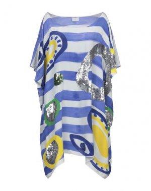 Короткое платье BONITA. Цвет: синий
