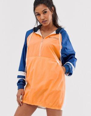Разноцветное платье-ветровка -Мульти Tommy Hilfiger Sport