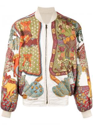 Куртка-бомбер с принтом Hermès Vintage. Цвет: многоцветный