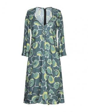 Короткое платье BINI Como. Цвет: зеленый