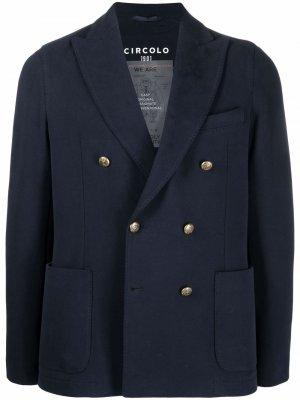 Двубортный пиджак Circolo 1901. Цвет: синий