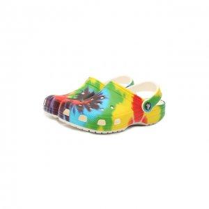 Сабо Classic Tie Dye Crocs. Цвет: разноцветный